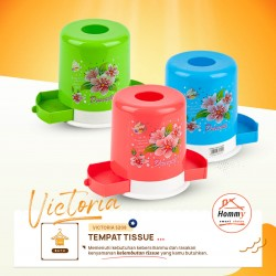 Tempat Tisu Bulat - Toll Tissue Box 2 in 1 Victoria - Hommy 5208